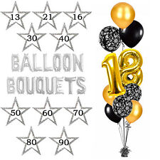 18TH 21ST 30TH 40TH 50TH 60TH 70TH 80TH 90TH PARTY GOLD FOIL BIRTHDAY BALLOONS