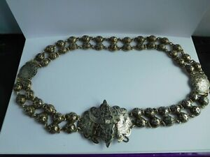 WONDERFUL 19TH CENTURY RUSSIAN SILVER AND NIELLO BELT