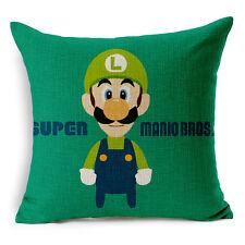 """18""""x45cm Super Mario Bros Luigi Cotton Linen Home Decor Cushion cover Pillowcase"""