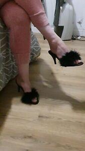 Agent Provocateur vintage Marabou Slippers