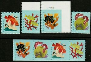 US CORAL REEFS 2019 #5363-5366 & #5367-5370 POST CARD RATE XF FOREVER STAMP SETS