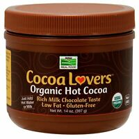Now Foods Organic Hot COCOA LOVERS Cocoa Instant Low Fat Powder, 14 oz