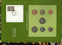 Coin Sets of All Nations Guernsey 1979-1984 UNC £1, 50,20 Pence 1983 10 P 1984