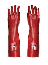 PortWest Unisexe PVC Gant Rouge taille XL A445