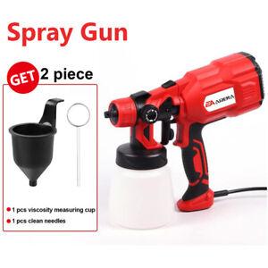 550W Handheld Spray Gun HVLP Electric Paint Sprayer Outdoor Gard