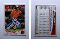Endy Chavez Signed 2013 Topps #309 Card Baltimore Orioles Auto Autograph