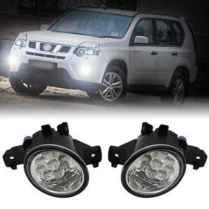 2x LED Fog Light Headlight For Nissan Altima Sentra Rogue Maxima Qashqai Almera
