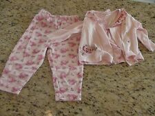 Baby Girls Rumble Tumble 2 Piece Set Rose Floral Pattern Size 12 Months Guc