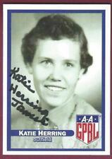 Katie Herring, Female Professional Baseball Player, Signed Trading Card, Coa