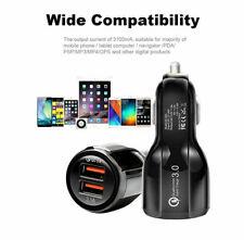 GENUINE FAST CAR CHARGER USB Dual UNIVERSAL Charging QC 3.0 Cars LED 12V-24V