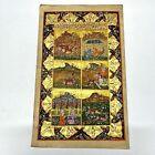 Antique Middle Eastern Artwork Painting On Islamic Arabic Book Leaf Rare Art - X