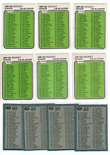 1X UNMARKED CHECKLIST 1981 82 OPC #379 NRMT+ O Pee Chee Lots Available