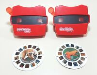 Lot of 2 View-Masters 2014 Series 3D Slide Viewers w/ 2 Endangered Species Reels