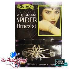 GOTHIC SPIDER BRACELET Adjustable Halloween Witch Costume Bangle Wristband BA932