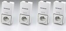 4 x Netgear dLAN 200 AVplus Powerline ADAPTER Netzwerk aus der Steckdose Top