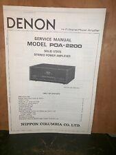 Denon POA-2200 Amplifier Service Manual Hi Fi