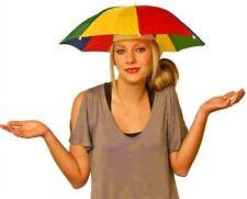 (10) Umbrella Hat Multi Color Lou Brock Hand Free Umbrella Golf Fishing Rain Sun