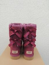UGG BOUGAINVILLEA BAILEY BOW II SUEDE/ SHEEPSKIN BOOTS, WOMENS US 10/ EUR 41 NIB