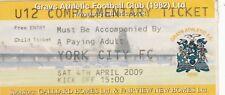Ticket - Grays Athletic v York City 04.04.09