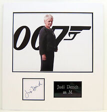 Judi Dench Genuine Hand Signed Photo Display Mount Skyfall