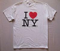 Mens I LOVE NY T Shirt Sz M the big apple New York empire state Adirondacks NWOT
