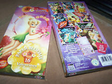 Box of 16 Disney Tinkerbell Paper Blooms Flower Valentine's Day Cards New