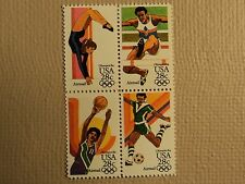 USPS Scott C101-04 28c Olympic Games 1984 Mint NH Block 4 Stamps
