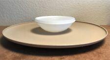 "Vintage TUPPERWARE 14"" bowl CHIP DIP-N-SERVE Vegetable APPETIZER PARTY Tray 492"