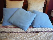 58cm SQUARE EXTRA LARGE CUSHION COVER  BLUE. ZIPPER
