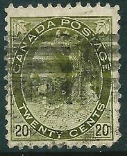 CANADA - 1900 QV 20c 'OLIVE-GREEN' Used SG165 Cv £50 [A4012]