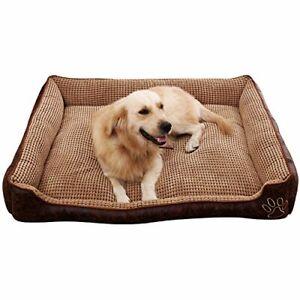 AcornPets® B-602 Deluxe Coffee Color Large Dog Bed Cat Pet Pillow Fleece 90 x 70