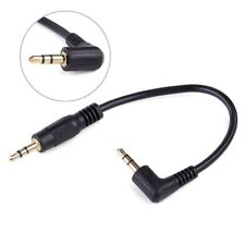 10cm 3.5mm Male Right Angle to 3.5mm Male Aux Audio Cable For MP3 Car Speaker