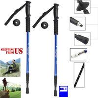 Trekking Walking Hiking Sticks Poles Adjustable Alpenstock anti-shock