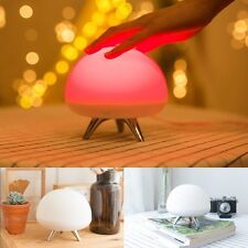 Romantic 8 Color Changing LED Night Light Desk Table Lamp Touch Sensor Kids Gift
