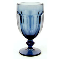 "Libbey Gibraltar Iced Tea 7"" tall Blue Glass"