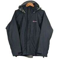 BERGHAUS Waterproof Blue Hooded Coat Taypack Jacket Windbreaker - Mens Small