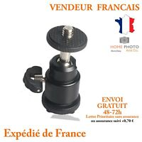 Mini Rotule support pour appareil photo reflex Sabot pour grif flash