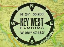 Key West, Florida GPS Magnet - Reflective Vinyl GPS Marker Magnet
