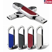 2TB 256GB USB Flash Drive Memory Stick Pen Metal Key Chain U Disk Thumb PC USA