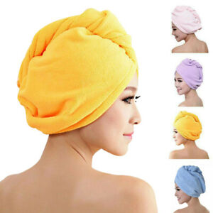 Microfiber Rapid Quick Drying Towel Large Hair Dry Hat Cap Home Bathing