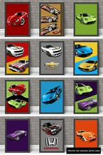 Hot Wheels Set Of 12 Girl Boy A4 Gaming Wall Art Print Bedroom Cars Posters