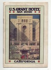 Early 1900 U.S. Grant Hotel, San Diego, California brochure