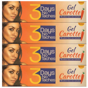 (PACK OF 4) 3 Days No Taches Gel Carrot 30ml FREE SHIPPING