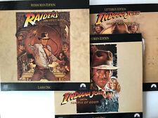 Raiders Set: Lost Ark, Temple of Doom, Indiana Jones the Last Crusade laserdisc
