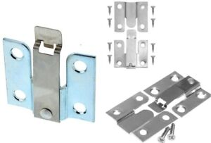 4 x FLUSH MOUNT BRACKETS with SPRING LOCK Picture/Mirror/Headboard Wall Hanging