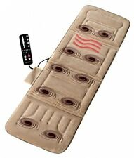 Electric Massage Mat Full Body Pad Heat Vibrating Cushion Bed Comfort Controller