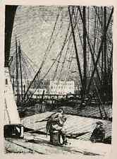 BASSIN GUILLAUME 1915  ANVERS - Luigi KASIMIR - ANTWERPEN - Lithographie