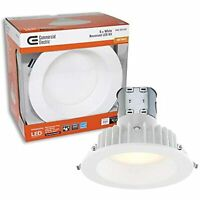 """Commercial Electric Easy Up 6"""" Soft White LED Recessed Baffle Kit"""