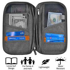RFID Card Holder Family Travel Wallet Organiser Document Money Passport Large