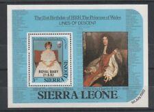 SIERRA LEONE 1982 DIANA 21st O/P ROYAL BABY $5 MINIATURE SHEET MNH